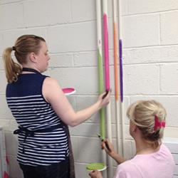 Click to view album: Teachers and Students are painting